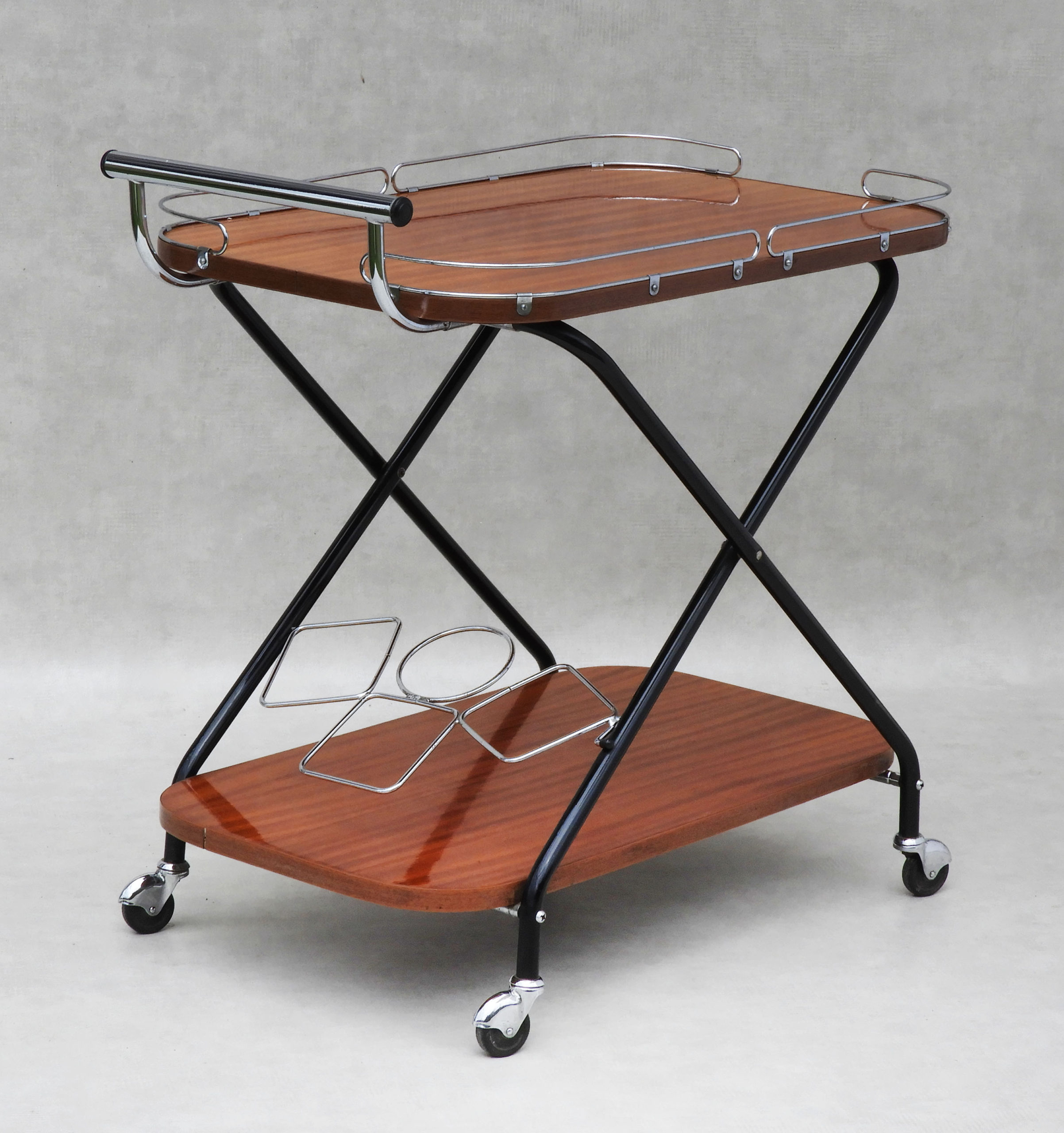 Vintage Mid Century Drinks Trolley Bar Cart 1960s France Atelier33bis